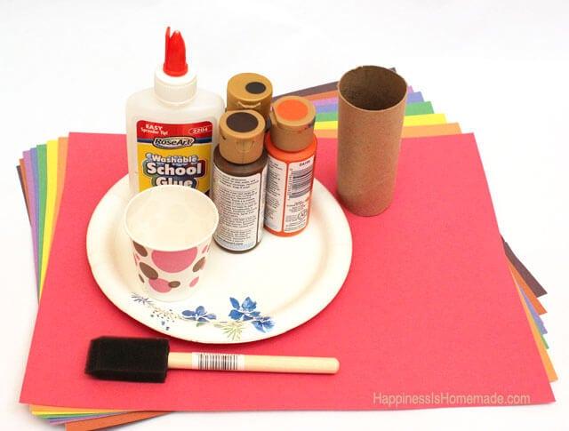Kids Thanksgiving Craft - Gratitude Turkey Supplies