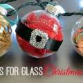 Simple ideas for glass christmas ornaments happiness is homemade