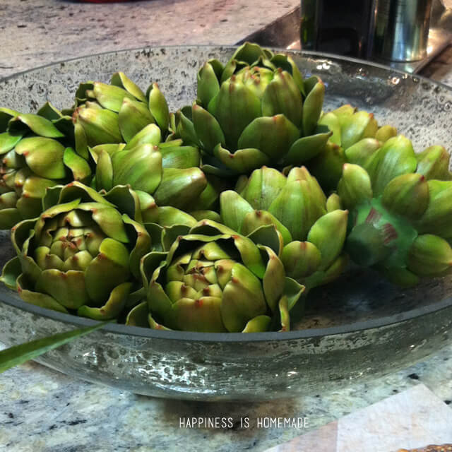 Bowl of Artichokes at the 2014 HGTV Dream Home