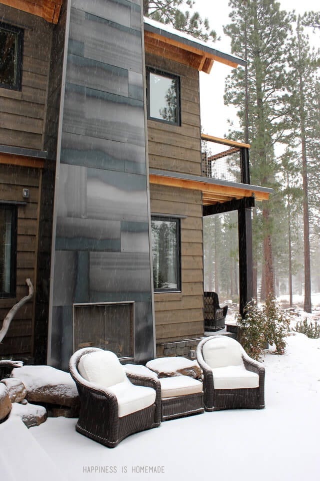 Exterior Fireplace at the 2014 HGTV Dream Home
