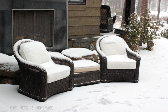 Outdoor Seating at the 2014 HGTV Dream Home