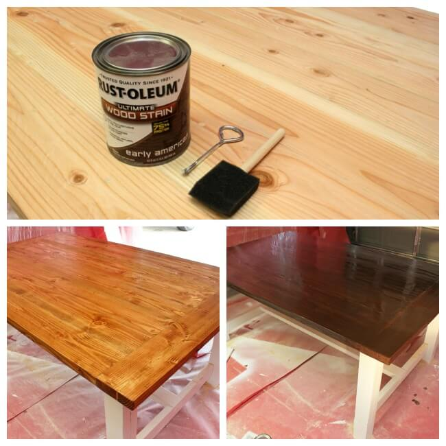 Staining a Farmhouse Table Top