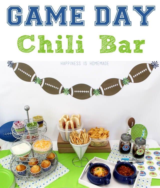 Superbowl Football Game Day Chili Bar