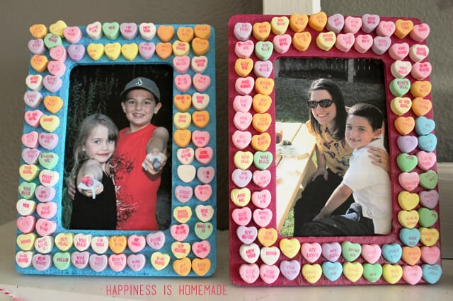 Valentine's Day Kids Craft - Conversation Heart Picture Frames