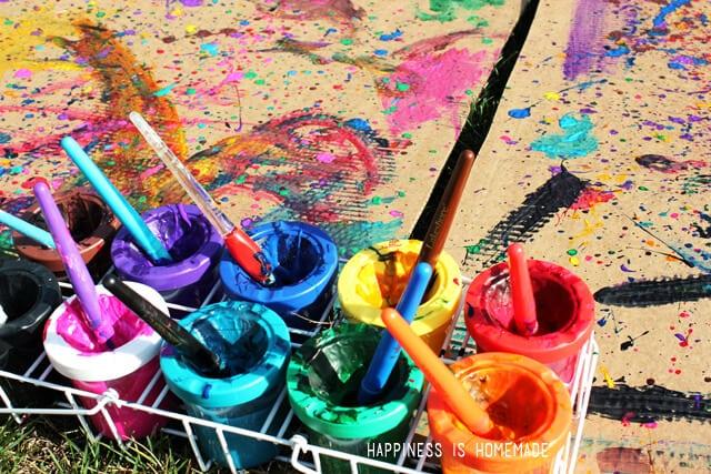 Oversized Outdoor Splatter Paintings