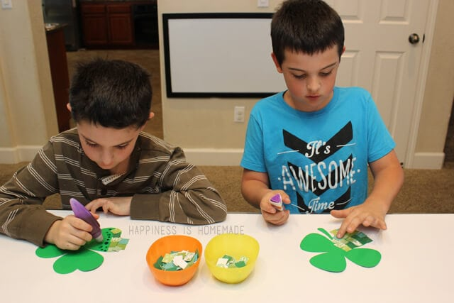 St Patricks Day Crafting with Elmers Early Learners