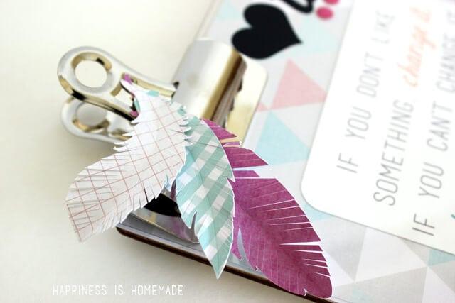 Heidi Swapp Paper Feathers