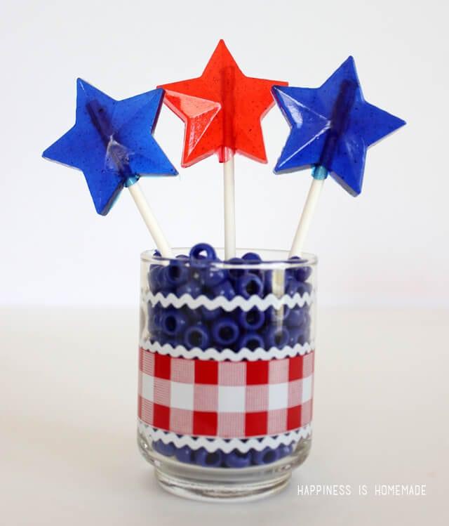 Patriotic Star Shaped Lollipops Tutorial