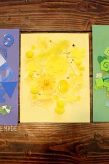 Kids Crafting 101 Color Collage Art Activity Happiness Is Homemade