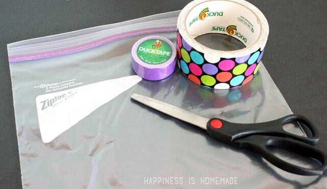 Zipper Duck Tape Pouch Supplies