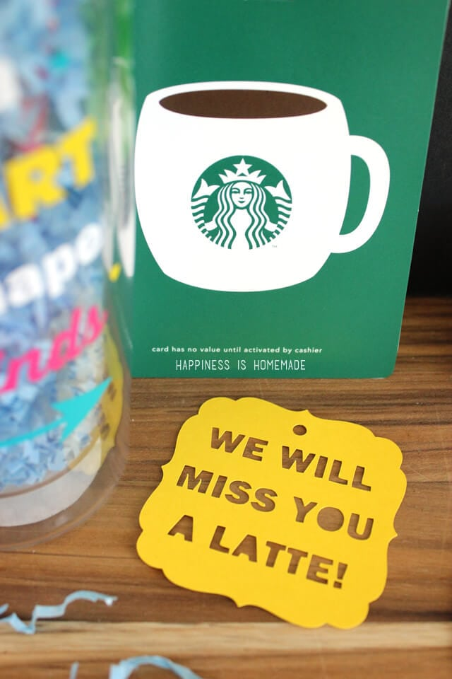 Cute Gift Idea - We Will Miss You a Latte Tag