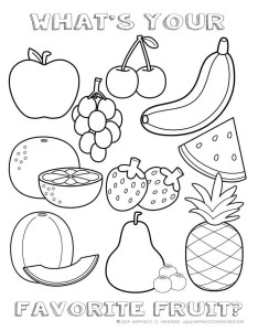 Fruit coloring sheet also printable healthy eating chart  pages happiness is homemade rh happinessishomemade