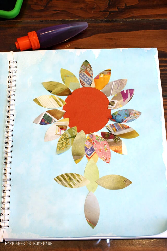 Kids Art Mosaic Animals Amp Collage Happiness Is Homemade