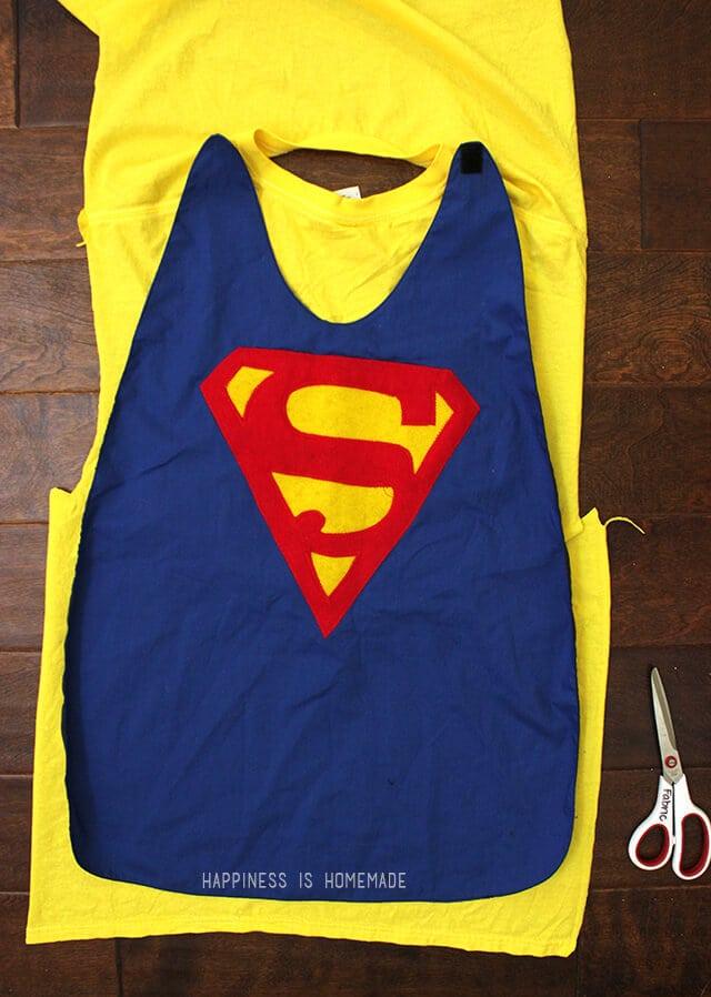 Upcycled T Shirt to Superhero Cape
