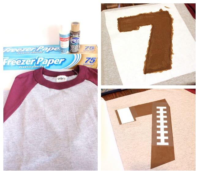 DIY Custom Football Team Number Shirt