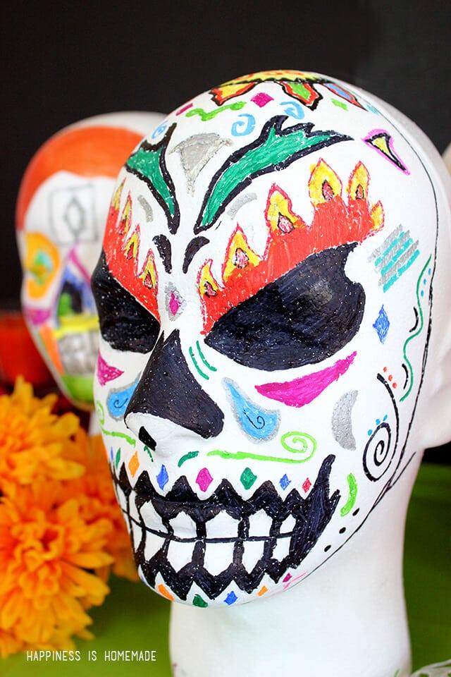 Foam Dia de lost Muertos Sugar Skull