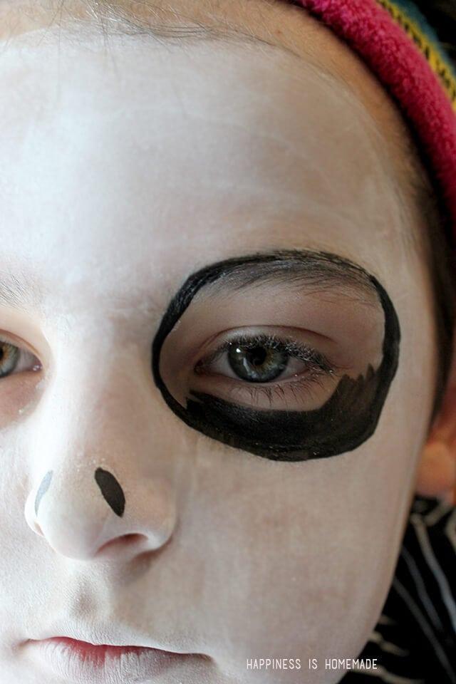 Painting Jack Skellington Halloween Makeup