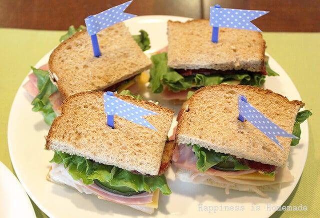 Deli Club Sandwiches