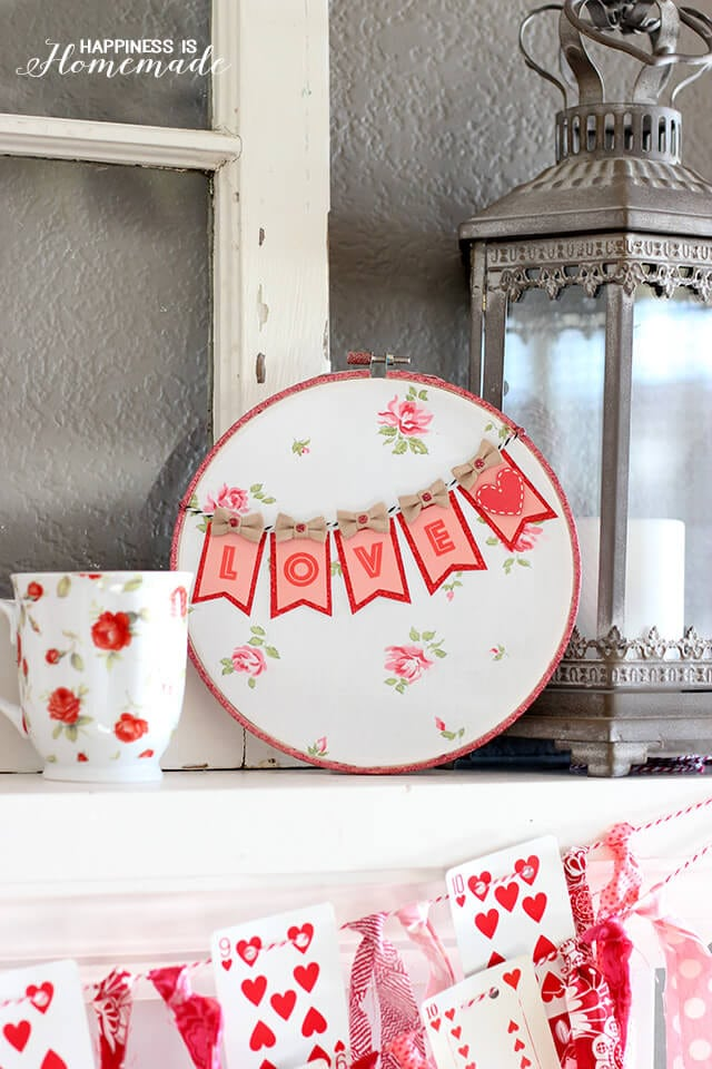 Adorable Valentine's Love Hoop Art