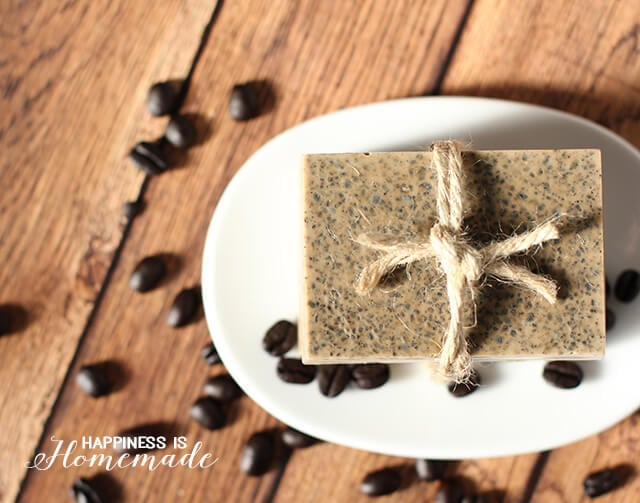 DIY Exfoliating Coffee Soap