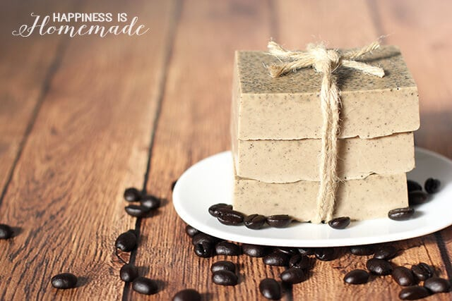 DIY Invigorating Coffee Soap