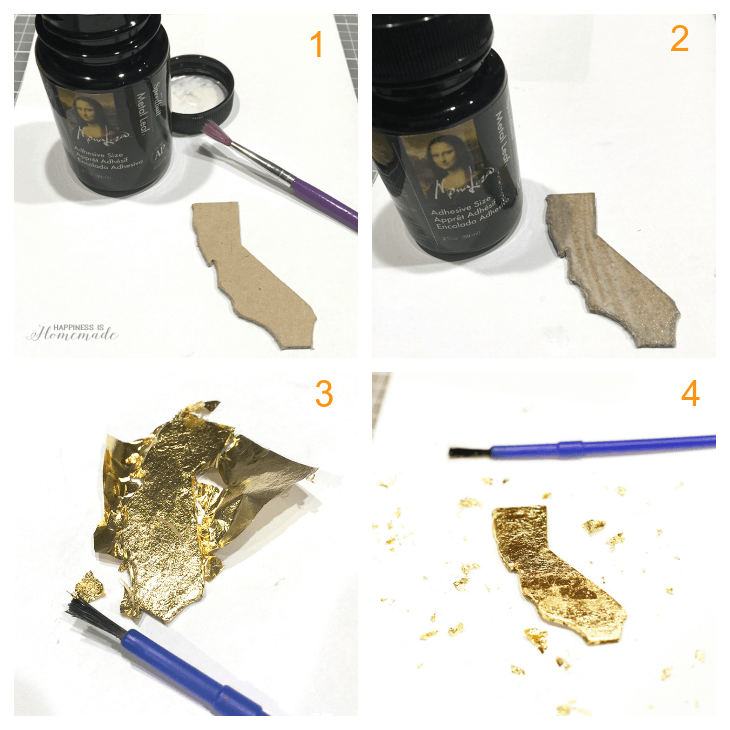 DIY Gold Leaf California State Necklace Tutorial