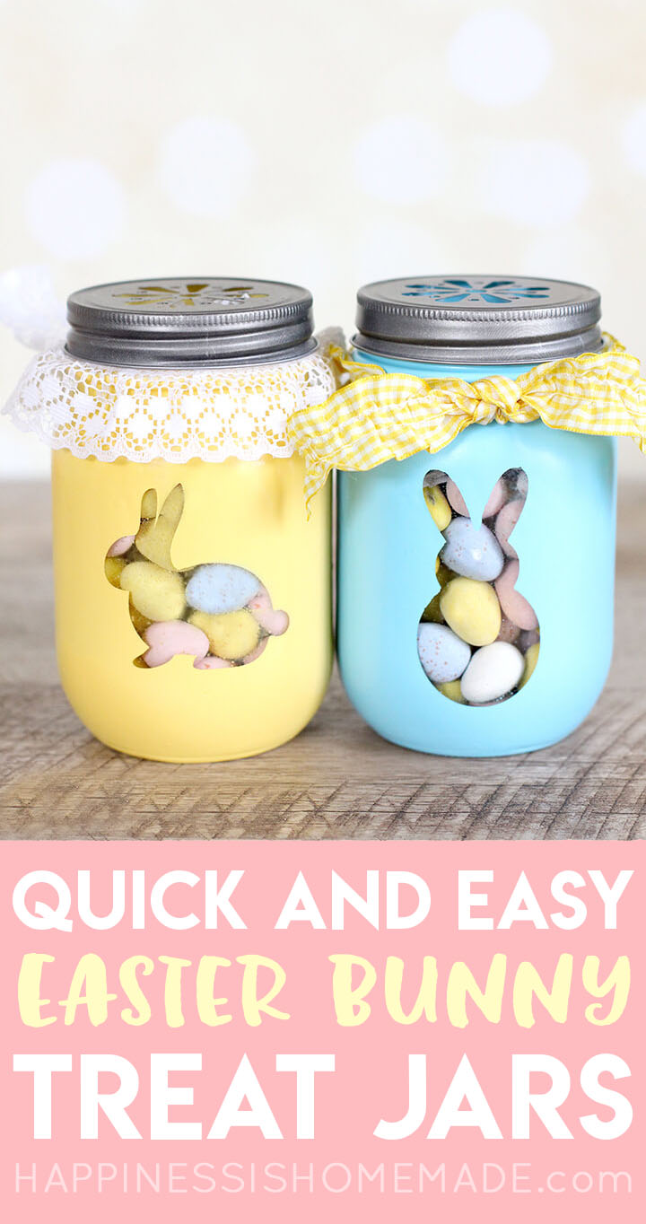 Easter Bunny Treat Jars Easy Easter Craft