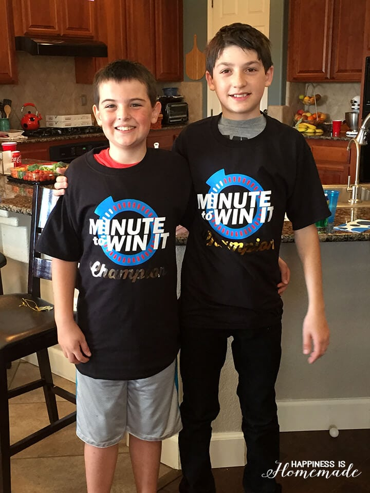Minute to Win It Champion Winners Shirts