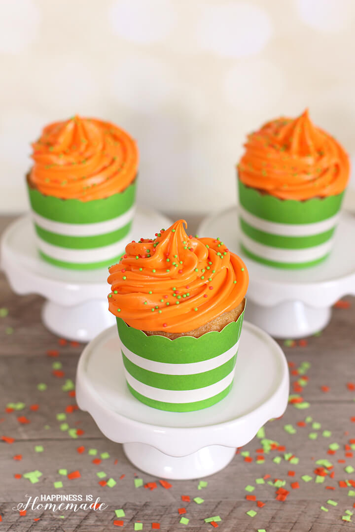 Nickelodeon Green Slime Filled Cupcakes - Vanilla Cupcakes with Lemon Curd Filling
