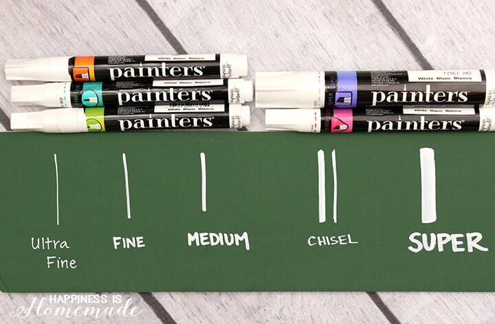Various Thicknesses of Elmer's Painters Markers
