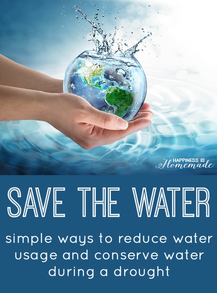 Save The Water Ways To Help Conserve Water