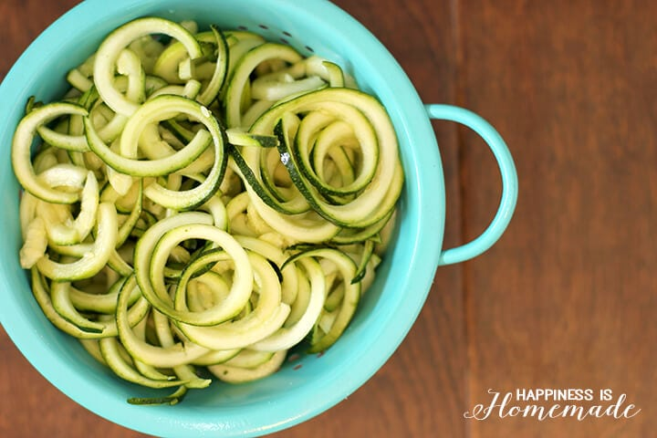 Spiralized Curly Zucchini
