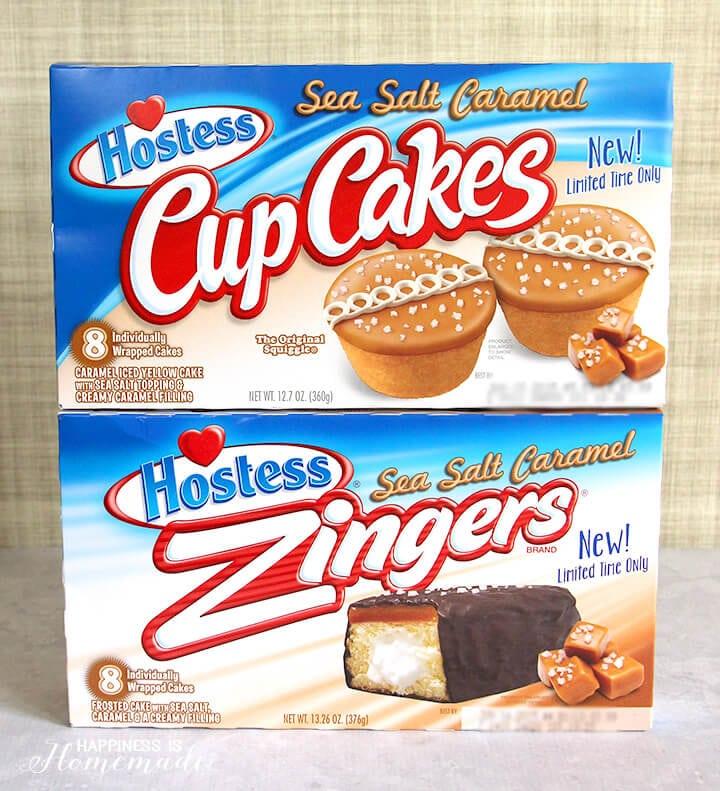 Hostess CupCakes and Zingers with Sea Salt Caramel