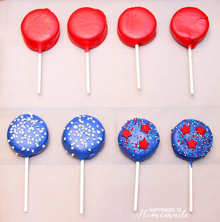 How to Make Oreo Pops for 4th of July