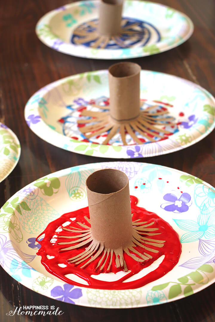 TP Roll Firework Painting