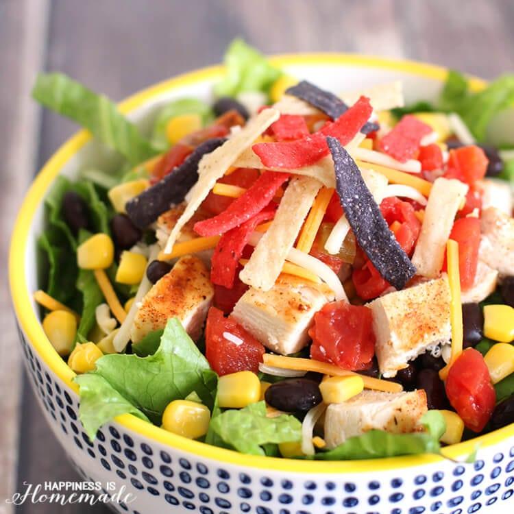 The Best Chicken Taco Salad Recipe
