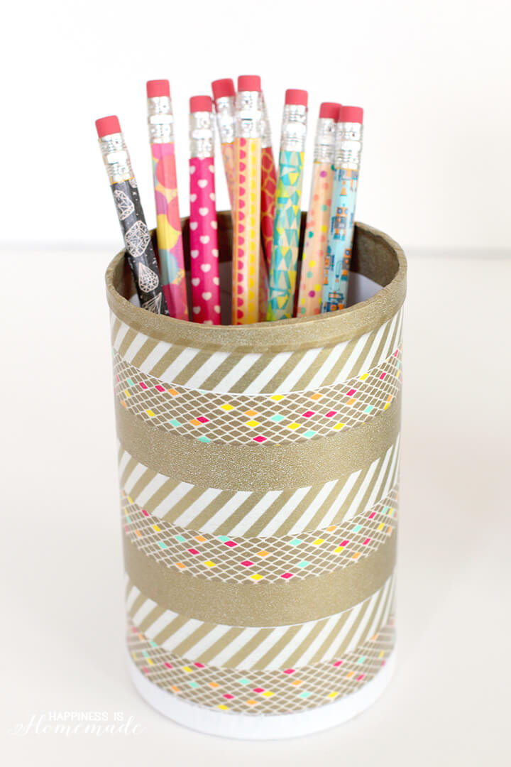 Washi Tape Pencils and Pencil Holder Cup