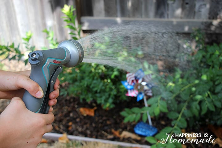 Watering the Garden with Gilmour Garden Tools