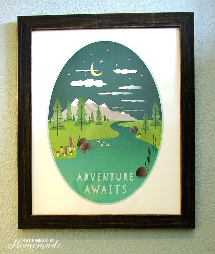 Adventure Awaits Minted Kids Art Print