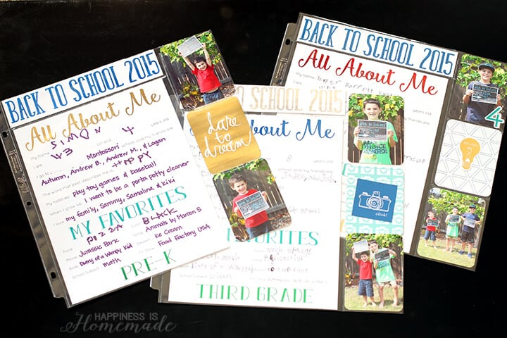 All About Me Printables for Back to School