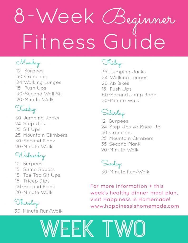 Week Two Workout Plan