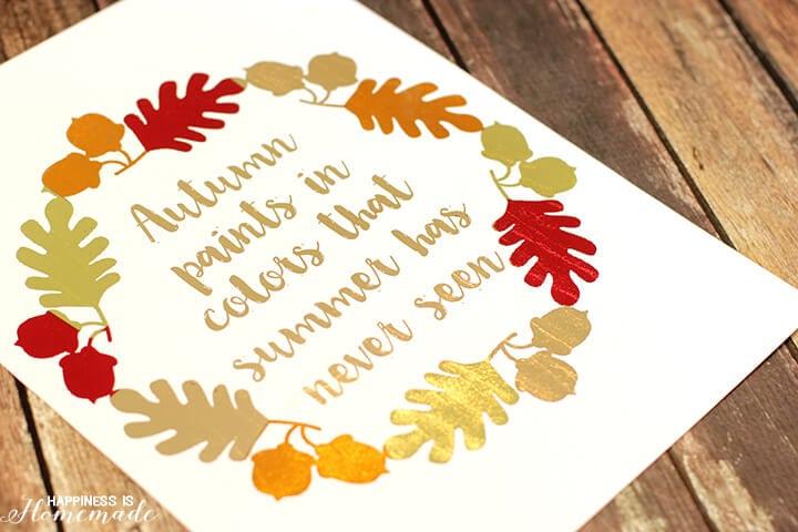 Autumn Colors Foil Printable