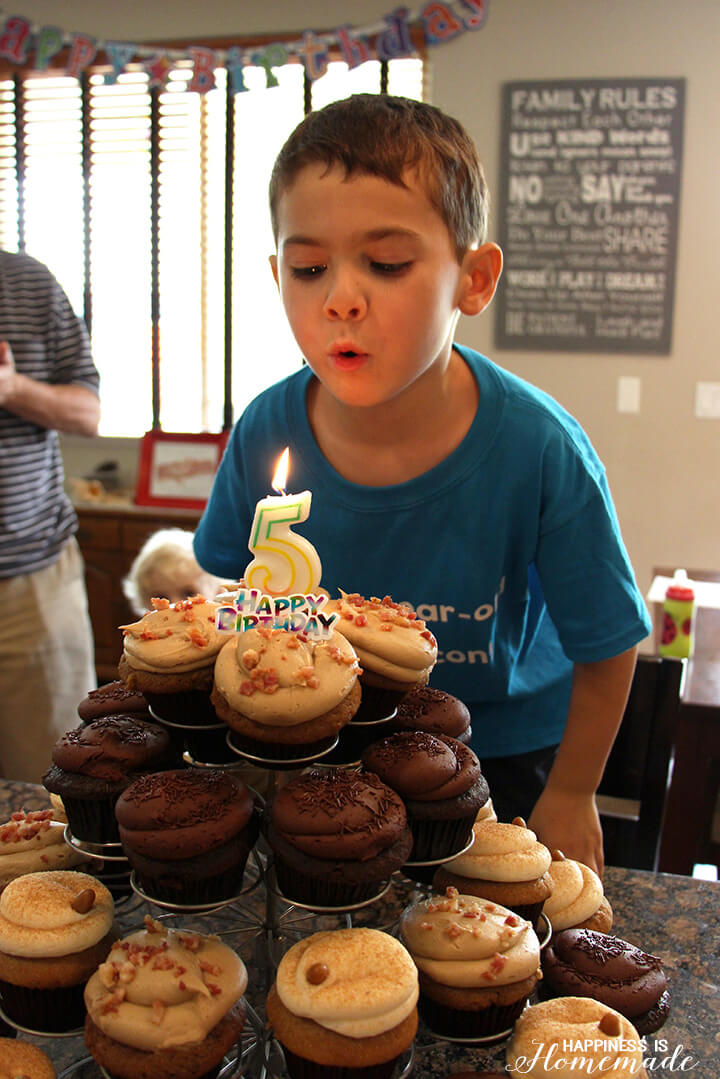 Birthday Candles and Bacon Cupcakes