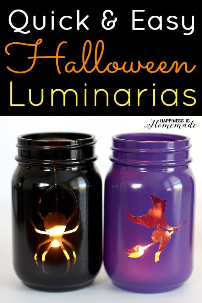 Quick and Easy Halloween Luminarias