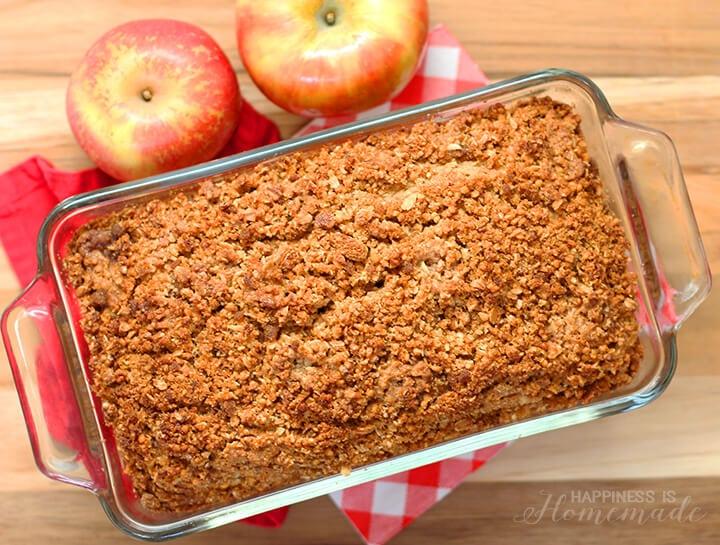 Apple Cinnamon Crumble Granola Bread