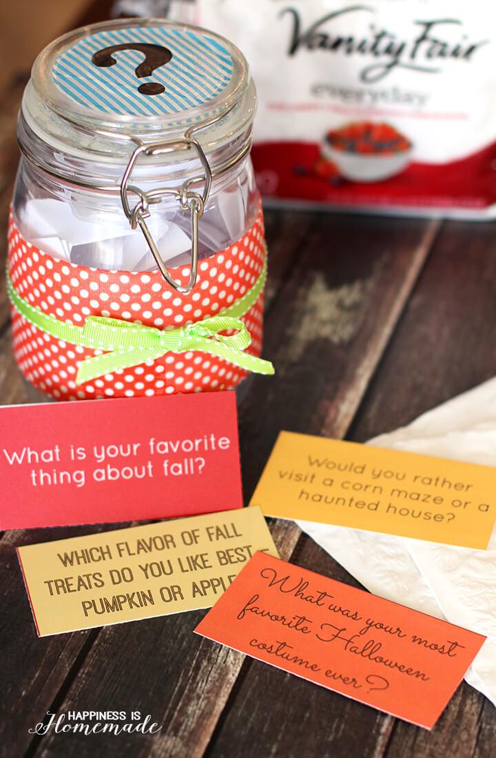 Dinner Conversation Starter Jar and Prompts