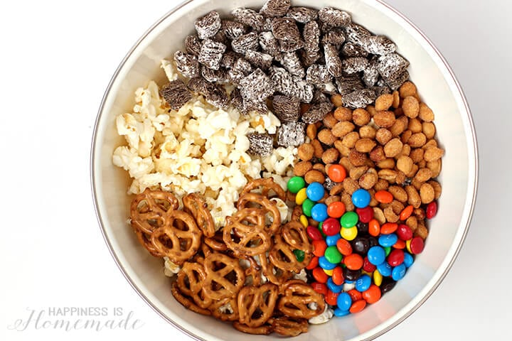 Peanuts Movie Snack Mix in a Bowl