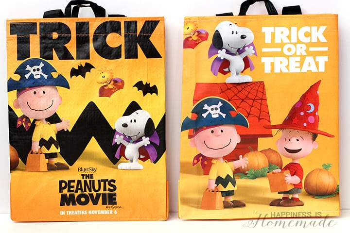 Peanuts Trick or Treat Bags from Safeway Albertsons