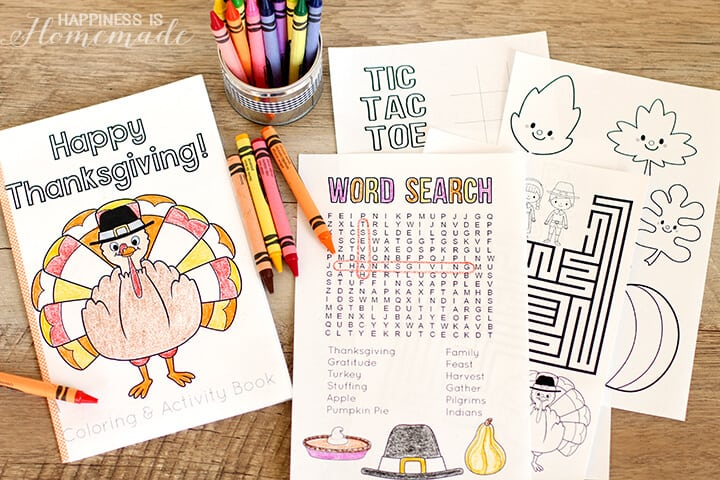 Thanksgiving Coloring and Activity Book Printables