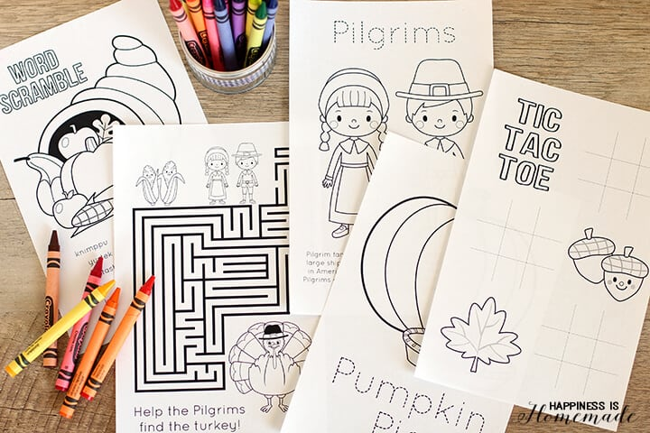 Thanksgiving Coloring Book for Kids to Color
